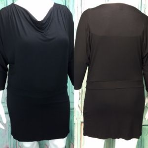 White House Black Market Women's Dress Large Black